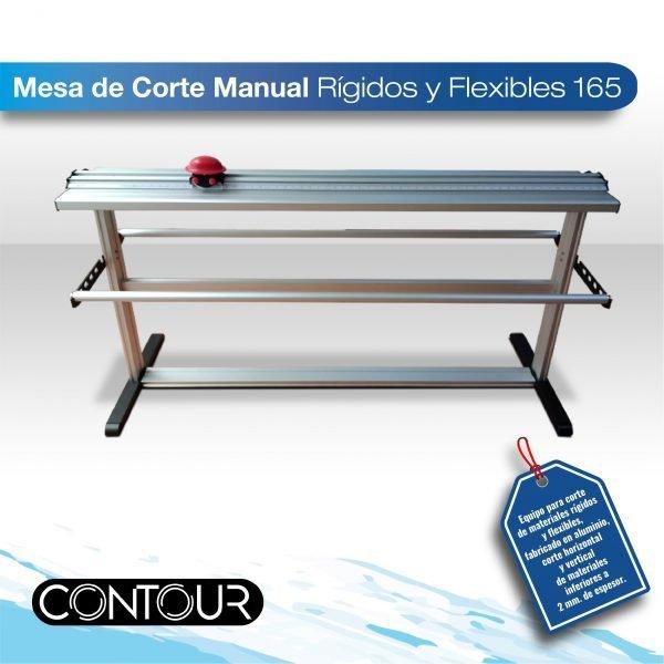 imagen de producto mesa de corte de 160 cm para materiales rijidos y flexibles, estructura de aluminio con cortes de hasta 160 cm